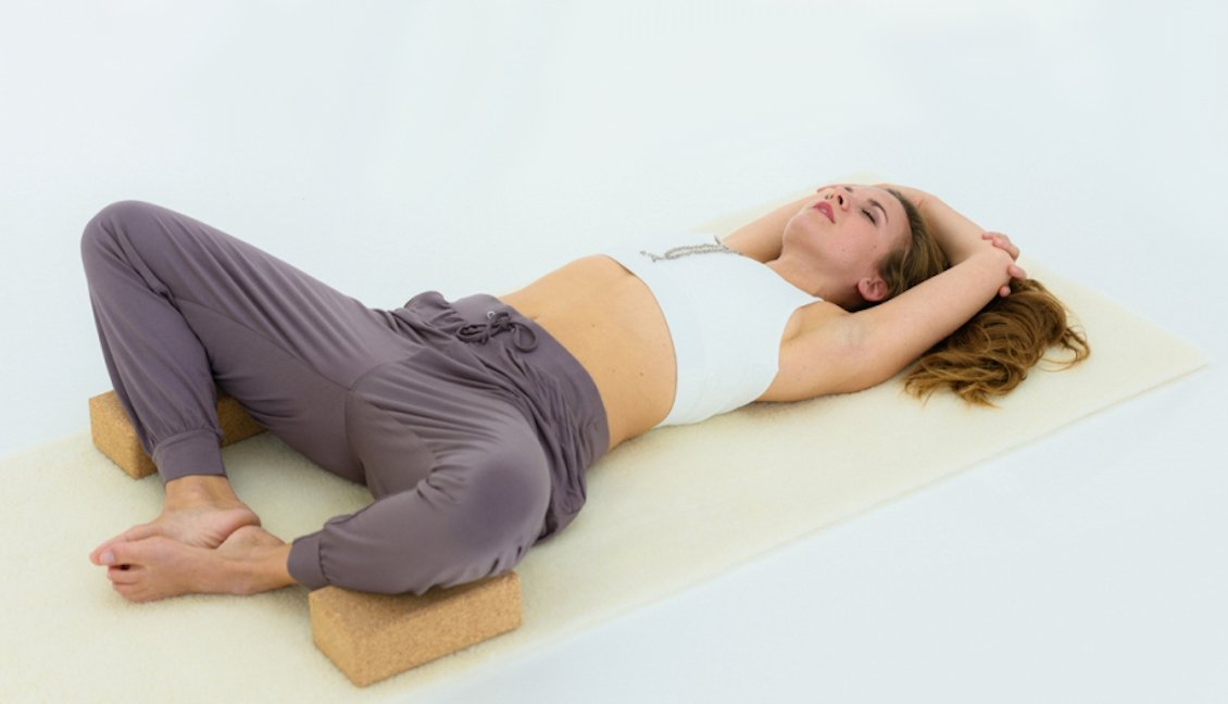 tapis de yoga en laine de mouton